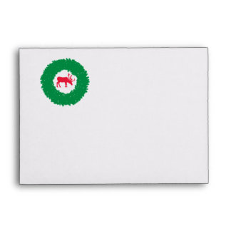 Moose for Christmas   Happy Holiday Moose Envelope