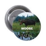 Moose for Palin Button