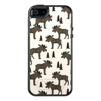 Moose Forest - Dark Brown Cream / Andrea Lauren OtterBox iPhone 5/5s/SE Case