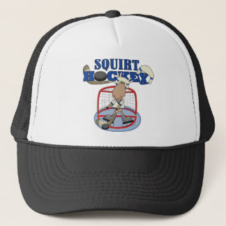 Moose Goalie Squirt Hockey Tshirts and Gifts Trucker Hat