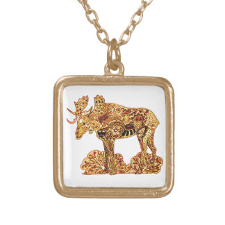 Moose Gold Plated Necklace
