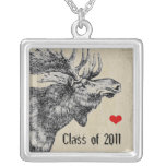 Moose-Graduation Class of 2011 Square Pendant Necklace