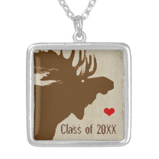 Moose-Graduation Class of Silver Plated Necklace