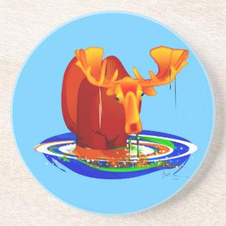 Moose Grazing in Water Coaster