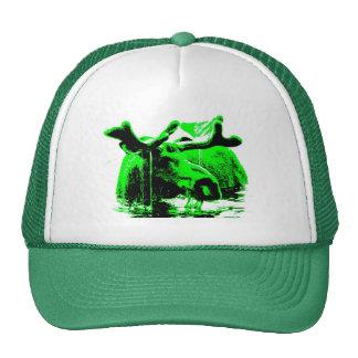 moose green trucker hat