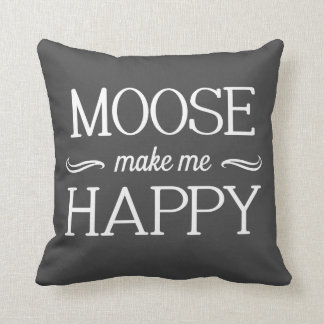 Moose Happy Pillow - Assorted Styles & Colors