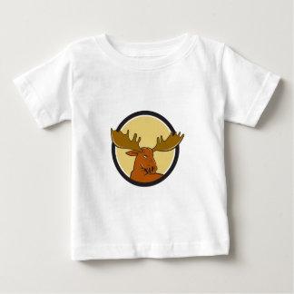 Moose Head Circle Cartoon Baby T-Shirt