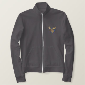 Moose Head Embroidered Jacket