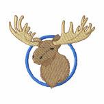 Moose Head Embroidered Track Jacket