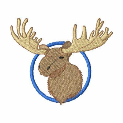 Moose Head Embroidered Polo Shirt
