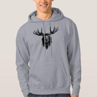 Moose head hoodie