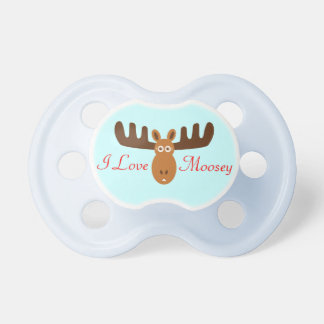 Moose Head_I Love Moosey Pacifier