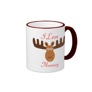 Moose Head_I Love Moosey Ringer Coffee Mug