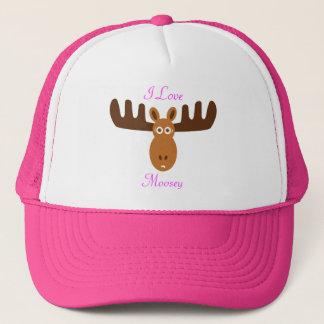 Moose Head_I Love Moosey Trucker Hat