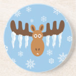 Moose Head_Icicle Antlers Coasters