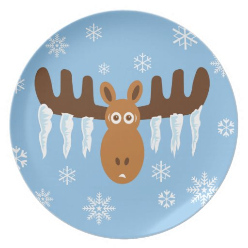 Moose Head_Icicle Antlers Dinner Plates