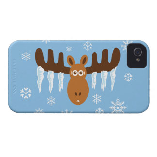 Moose Head_Icicle Antlers_Humorous Holidays iPhone 4 Cover