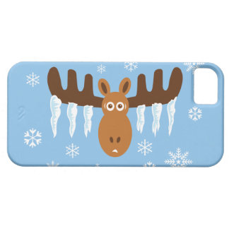 Moose Head_Icicle Antlers_Humorous Holidays iPhone SE/5/5s Case