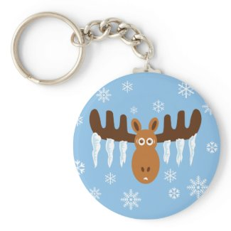 Moose Head_Icicle Antlers keychain