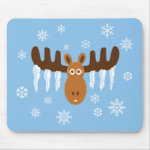 Moose Head_Icicle Antlers mousepad