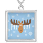 Moose Head_Icicle Antlers necklace pendant