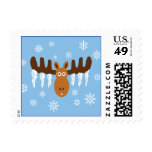Moose Head_Icicle Antlers postage