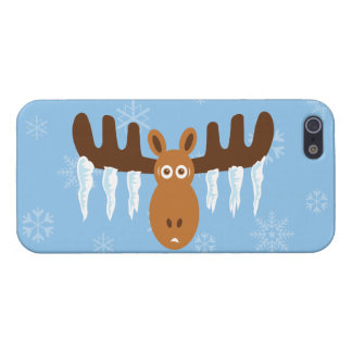 Moose Head_Icicle Antlers_Tis the freezin' season Case For iPhone SE/5/5s