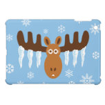 Moose Head_Icicle Antlers_Tis the freezin' season Cover For The iPad Mini