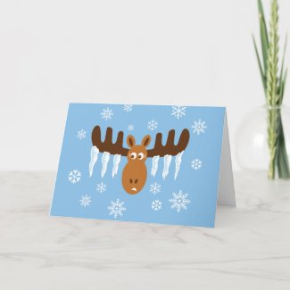 Moose Head_Icicle Antlers_Warmest Wishes card