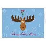 Moose Head_Merry Kiss Moose_Happy Gnu Year! Greeting Card