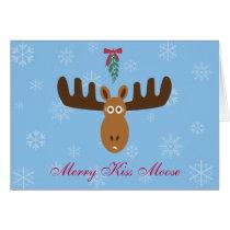 Moose Head_Merry Kiss Moose_Happy Gnu Year! Card
