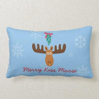 Moose Head_Merry Kiss Moose_Happy Gnu Year! Lumbar Pillow