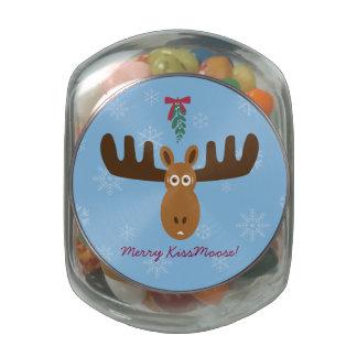 Moose Head_Mistletoe_Merry Kissmoose! Jelly Belly Candy Jars