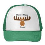 Moose Head_Moose Head Deer Trucker Hats