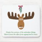 Moose Head_Mooseltoe & eggnog_Office Party mousepad