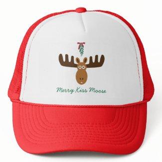 Moose Head_Mooseltoe_Merry Kiss Moose hat