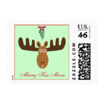 Moose Head_Mooseltoe_Merry Kiss Moose Stamp
