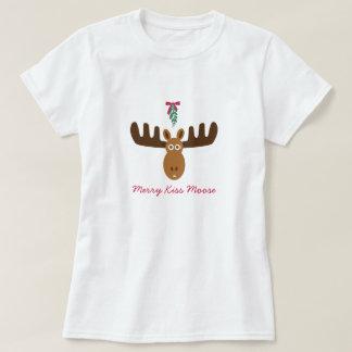 Moose Head_Mooseltoe_Merry Kiss Moose T-Shirt