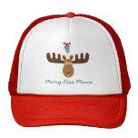 Moose Head_Mooseltoe_Merry Kiss Moose Trucker Hat