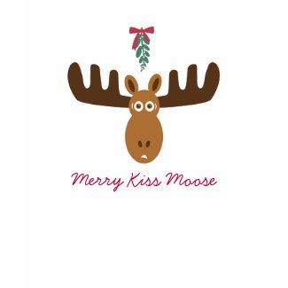 Moose Head_Mooseltoe_Merry Kiss Moose shirt