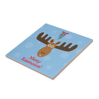 Moose Head_Mooseltoe_Merry Kissmoose! Tile