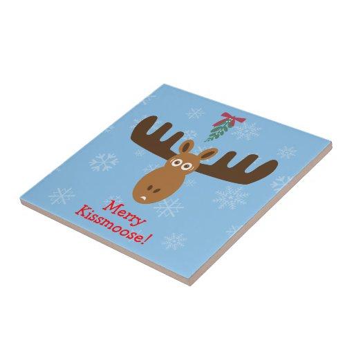 Moose Head_Mooseltoe_Merry Kissmoose! Tiles