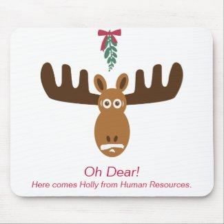 Moose Head_Mooseltoe_Oh Dear mousepad