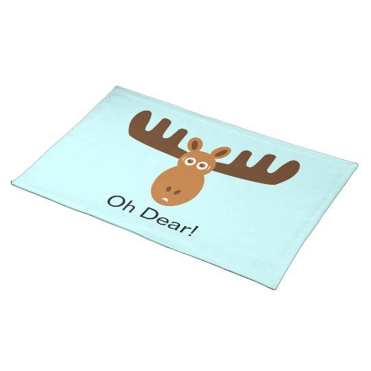 Moose Head_Oh Dear! Cloth Placemat