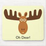 Moose Head_Oh Dear! mousepad
