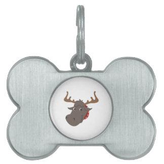 Moose Head Pet Tag