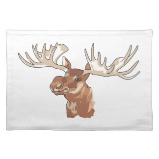 MOOSE HEAD CLOTH PLACEMAT