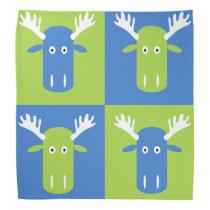 Moose Head Pop Art bandana
