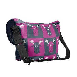 Moose Head Pop Art messenger bags