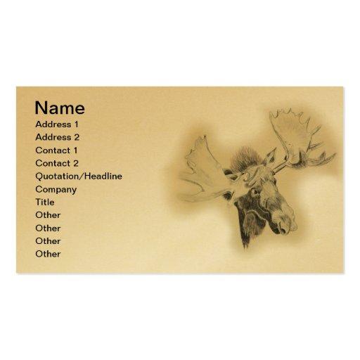 Moose Head Sketch Business Card Templates